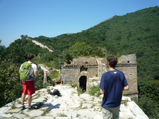 great wall hike and camp in watch tower